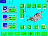 Ручной режим : работа каждого привода по отдельности, необходим при установке оснастки