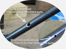 Трубогиб с ЧПУ, модель 30-TBRE | Сквозная пробивка отверстий в трубе.