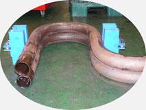 Трубогибочный станок. Гибка медно-никелевой трубы МНЖ 5-1, 156х3.0мм