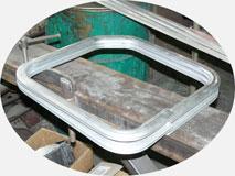 Трубогибочный станок. Гибка алюминиевого двусоставного оконного профиля для катеров.