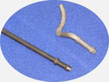 Трубогиб с ЧПУ. Гибка кронштейна глушителя из трубы или проволоки, с высадкой.